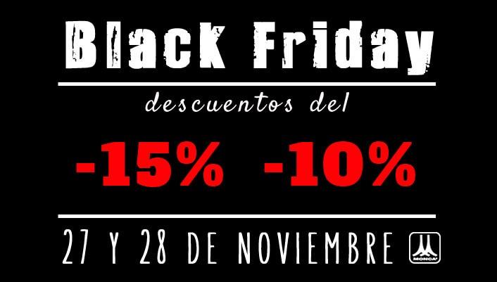 Black Friday en Monca 27 y 28 de noviembre